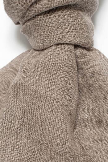 Sciarpa in lino colore ecru - Dettaglio