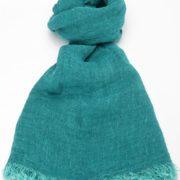 Sciarpa in lino colore turchese