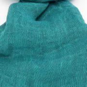 Sciarpa in lino colore turchese - Dettaglio