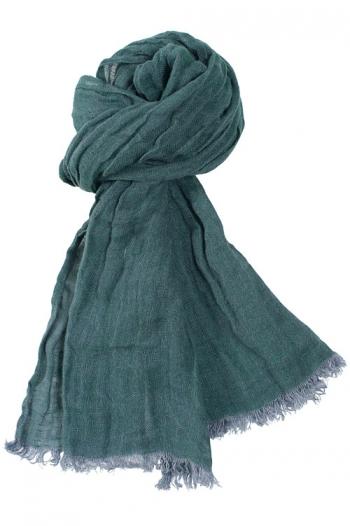 Sciarpa in lino colore verde