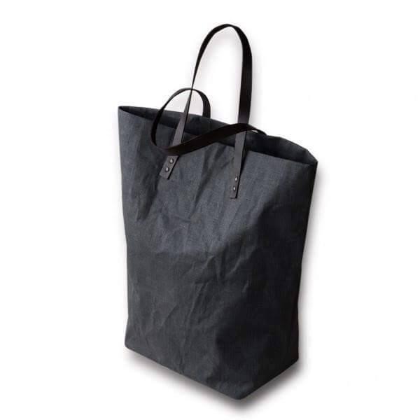 Shopping Bag color Antracite in 100% Lino - Dettaglio