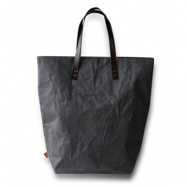 Shopping Bag color Antracite in 100% Lino