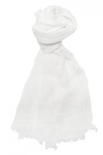 Sciarpa bianca in lino lettone