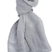 Sciarpa grigia in lino lettone