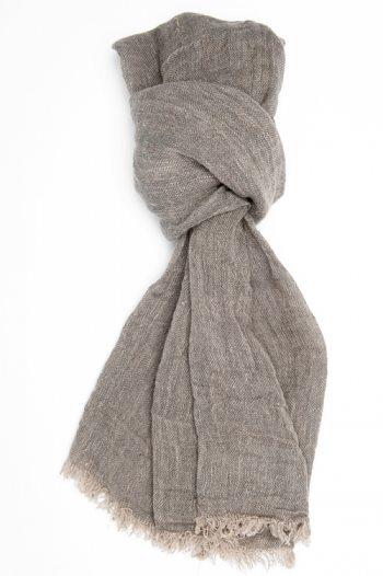 Sciarpa color sabbia in lino lettone