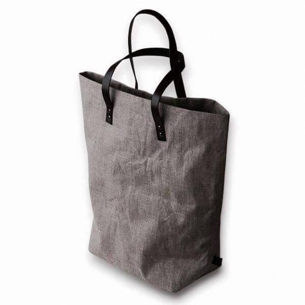 Shopping Bag color Grigio in 100% Lino