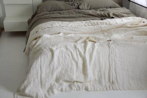Copriletto in lino - Disponibile in più colori - Balticoshop Perugia