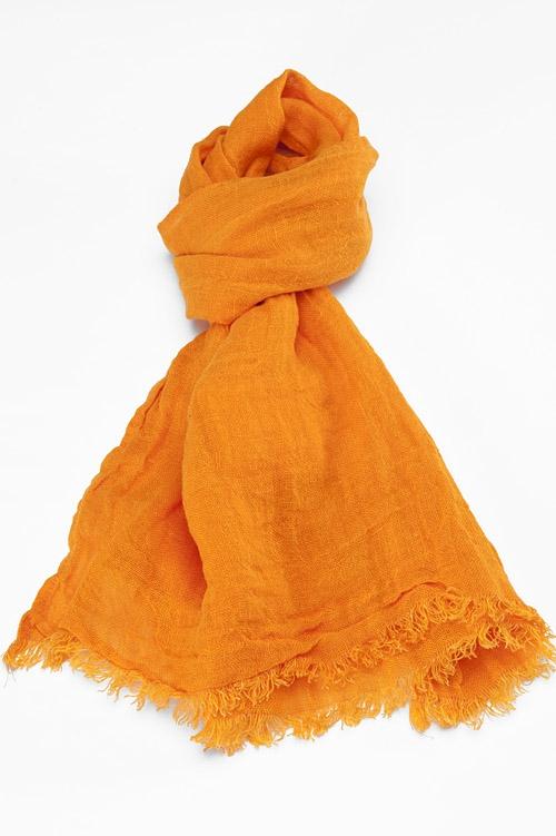 Sciarpa arancio in lino - Baltico Perugia - 01