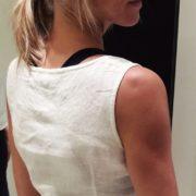 Camicia in lino morbido sottile retro
